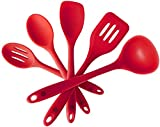 StarPack Basics Silicone Kitchen Utensil Set (5 Piece Set, 10.5')...