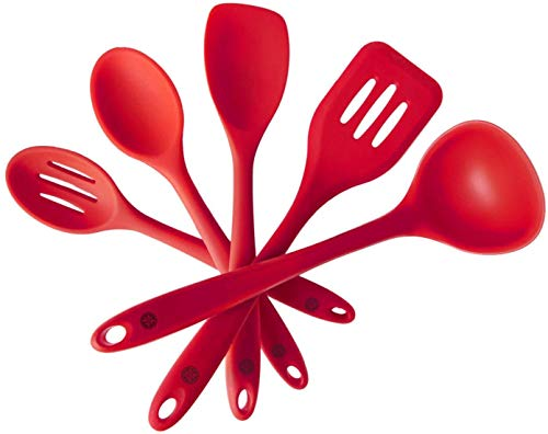 StarPack Basics Silicone Kitchen Utensil Set (5 Piece Set, 10.5') -...