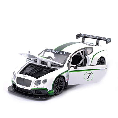 CHGDFQ Modelo de Coche 1:32 Bentley GT3 simulación de aleación de fundición a presión Juguetes Adornos colección de Coches Deportivos Joyas Rojo 14.5x6x4CM