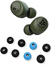 JLab Go Air True Wireless Bluetooth Earbuds with Charging case Green + Cloud Foam Mnemonic Earbud Tips