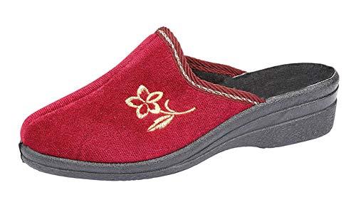 Amado Macario, LS702 Helen, zapatillas de tacón de cuña para mujer, color Rojo, talla 40 EU