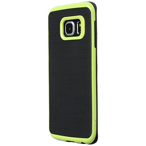 Ultratec Funda protectora de TPU / carcasa para Samsung S6 y S6 edge con diseño de contrastes y borde de color
