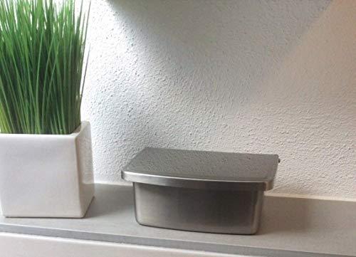 Feuchttücherbox hochwertigem Edelstahl Freistehend oder zur Wandmontage