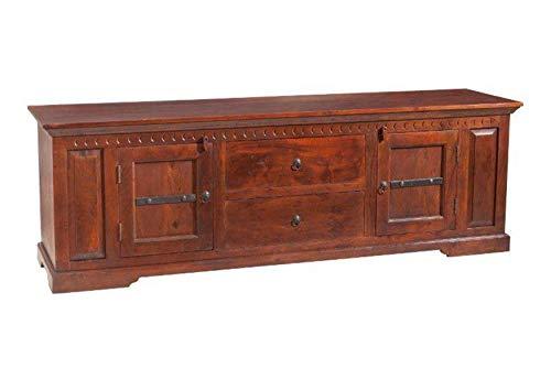MASSIVMOEBEL24.DE Longboard Oxford aus Akazienholz, Kommode aus Massivholz, Sideboard mit Schubladen und Schrankfächern