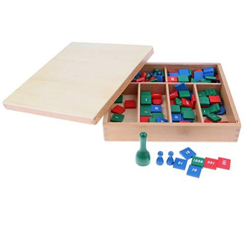 B Blesiya Juego de Estampillas Montessori Juguete de Aprendizaje de Matemáticas para Desarrollo Temprano