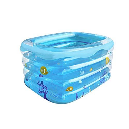 Piscina pequeña piscina inflable, baño del bebé de la familia de juguete de la piscina azul transparente piscina grueso resistente al desgaste Marina Ball Pool Family Park Agua (Tamaño: 120 * 105 * 75