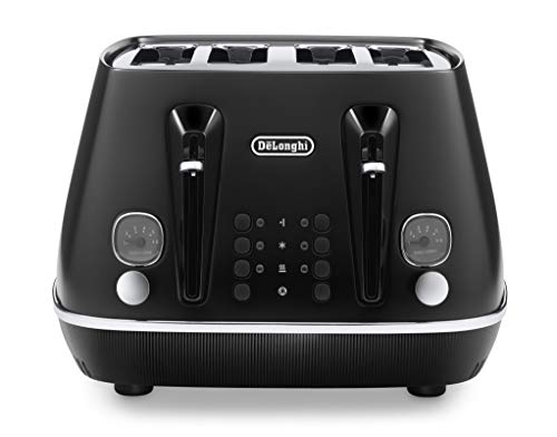 De'Longhi Distinta X CTIN4003.BK Designer 4 Slice Toaster, Variable...