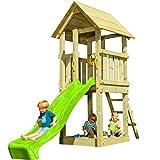   MASGAMES   Parque infantil KIOSK XL   Plataforma de 150 cm de altura   Tobogán con conector de manguera   Anclajes incluidos   Homologado uso doméstico  