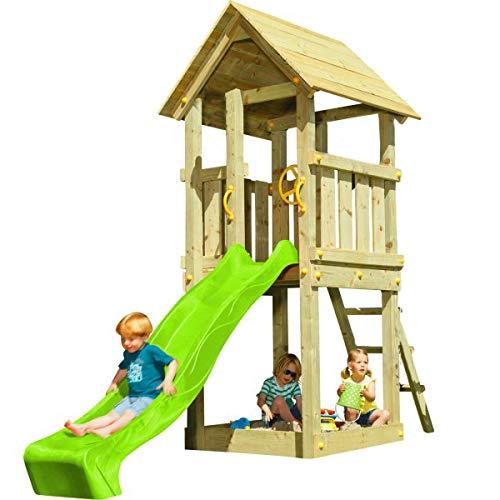 | Masgames | Box per bambini KIOSK XL | piattaforma di 150 cm di altezza | Scivolo con connettore del tubo | Ancoraggio inclusi | Omologato per uso domestico |
