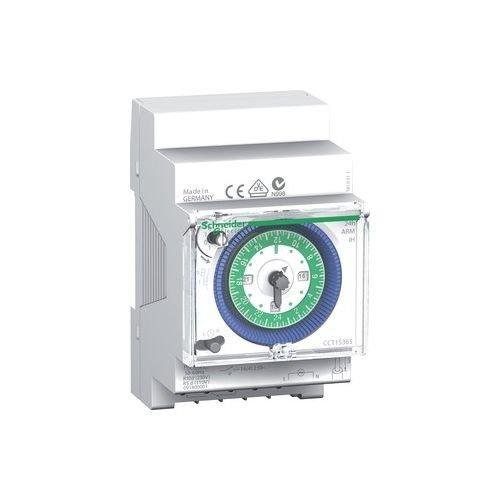 Schneider Electric CCT15365 Acti 9 IH Interruptor Horario Analógico, 24 H, Memoria 200H, 54mm x 90mm x 66mm, Blanco