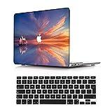 NEWCENT MacBook Pro 13' Funda,Plástico Ultra Delgado Ligero Cáscara Cubierta EU Teclado Cubierta para MacBook Pro 13 Pulgadas con Touch Bar Touch ID(Modelo:A2338 M1/A2289/A2251),Paisaje 16