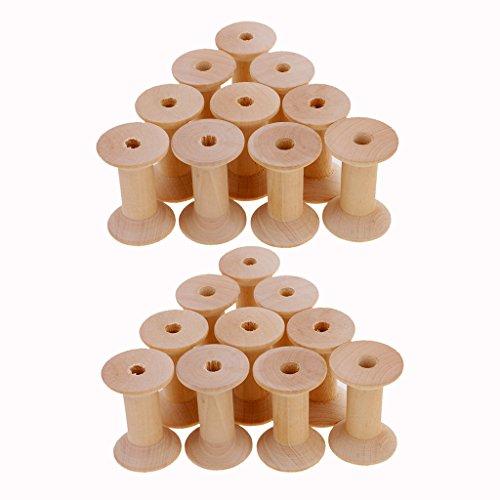 Holzspulen, 20 Stück, Größe: Ca. 4.7x3.1cm / 1.85x1.22inch