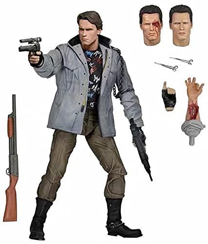 Terminator T800 Rogue Edition Battle Damaged Arnold Robot Figura de acción de 7 pulgadas