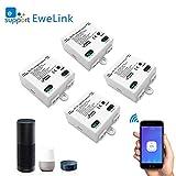 Smart WLAN Schalter Wireless Relais Modul WiFi Switch und Fernbedienung Intelligentes System Sprachsteuerung mit Amazon Alexa, Google Assistant, IFTTT, DIY Smart Home für elektrische...