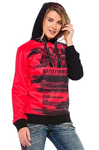 Detalles de Tommy Hilfiger Mujer Suéter con Capucha Sudadera Rojo Vino Gr.L ca.44
