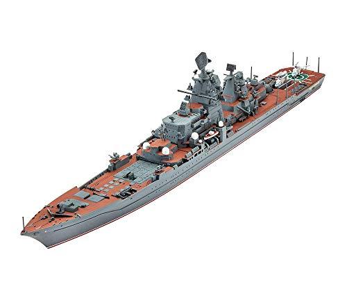 MxZas - Escalera 1/350 soviética Kirov Cruiser Puzzle Battleship modelo Battleship militar plástico Jigsaw juguetes regalos para niños 28,3 pulgadas Jzx-n