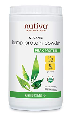 Nutiva Organic Cold-Pressed Raw Hemp Seed Protein Powder, 15G Protein, 16 Ounce | USDA Organic, Non-GMO | Vegan, Gluten-Free, Keto & Paleo | Plant Protein with Essential Amino Acids