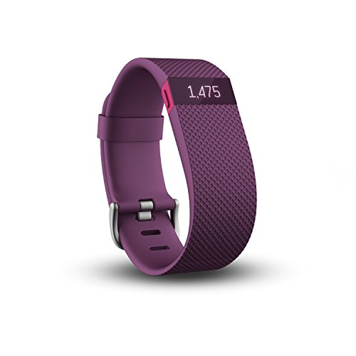 Fitbit Wristband CHARGE HR, Plum, S, FB405PMS-EU