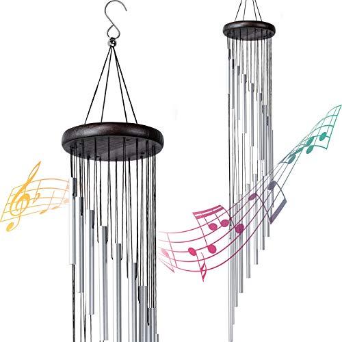 """Carillon a Vento Esterno, 36"""" Campanelli a Vento con 18 Tubi in Lega di Alluminio per Giardino, Patio, Cortile, Decorazione per la Casa Regali di Compleanno di Natale"""