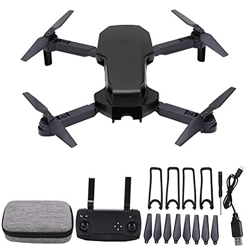 S3 Wifi RC Drone con cámara dual 4K HD para adultos principiantes, mini cuadricóptero RC plegable con luz LED para niños, fotografía aérea profesional, modo sin cabeza(negro)