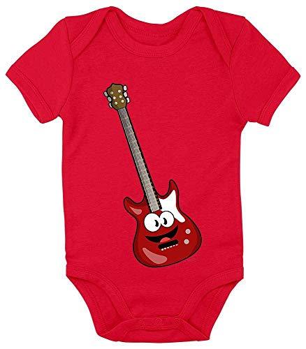 Hariz - Body de manga corta para bebé, guitarra eléctrica, sonriente, instrumento...