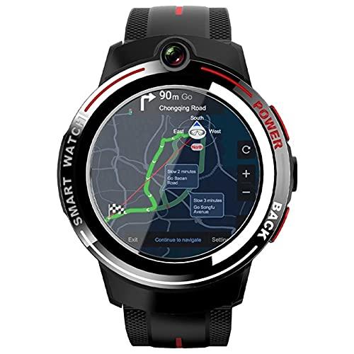 Ake Android Smart Watch Men's 1.39 Pulgada Redonda Pantalla Redonda WiFi 4g smartwatch Femenino Doble cámara Llamada extraíble prohibición,A