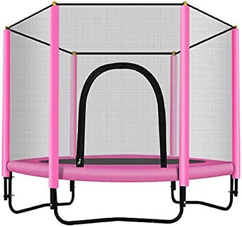 Kinder Garten-Trampolin Startseite mit Schutznetz Absprungmatte Größer Durchmesser (1,5 m) Für 2-3 Kinder Sicher und langlebig