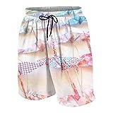 yyndw Casual Shorts Origami Hanging Crane Unisex Teen Teenager Printed Summer with Pockets Beach Board Shorts Boys Classic Quick Dry Men's Beach Shorts Cozy Drawstring Beach Shorts 4 Si
