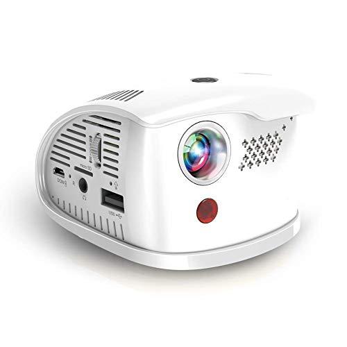 ZWMM Mini Beamer,Projector Hd,Film-Projektor Augenschutz Android 7.1-System 3 Stunden Wiedergabe Der Hohe Leistung Led 30.000 Stunden