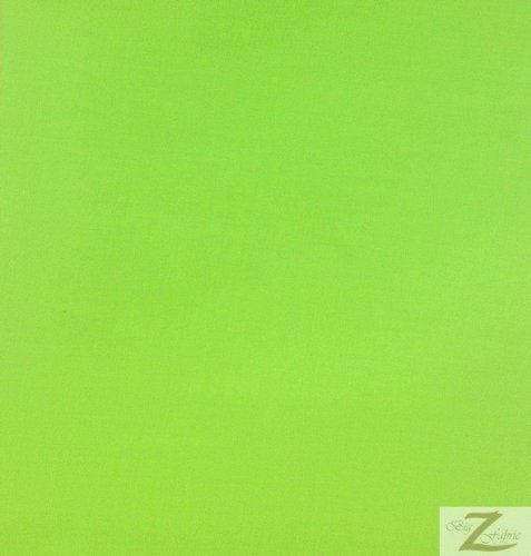 Lime Solid Poly Cotton Fabric 58'/60' Width Sold by The Yard (P198)