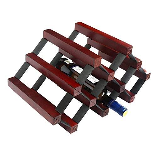 NBVCX Möbeldekoration Kreative Einfachheit Kreative Einfachheit Weinregale Natürliche Holzschränke auf dem Tisch Kreative Einfachheit Weinlagerschrank Kreative Einfachheit Weinregal Retro Design Crea