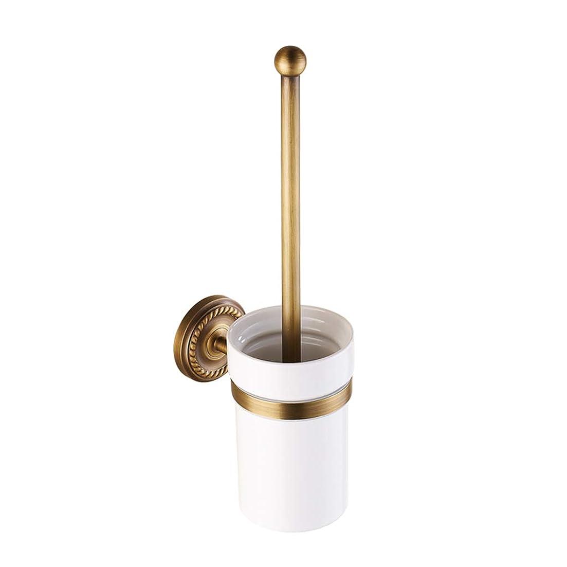 飼い慣らす三十憤るYEZI トイレブラシ - すべての銅のコンチネンタルトイレセット大型シャーシ 便利および衛生学 (色 : ゴールド)