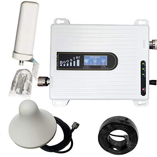 YAMEIJIA Amplificador de Señal Móvil Band B2 B5 850 1900 MHz repetidor de la señal de la Antena móvil Kit para Zonas Rurales de Mala Cobertura