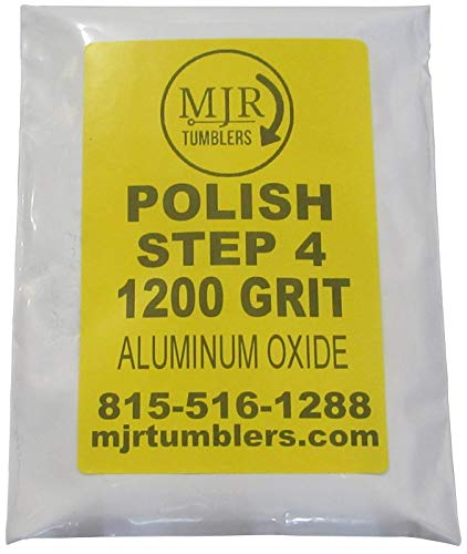 MJR Tumblers 5 LB Polish 1200 Aluminum Oxide Rock Refill Grit Abrasive Media Final Step USA