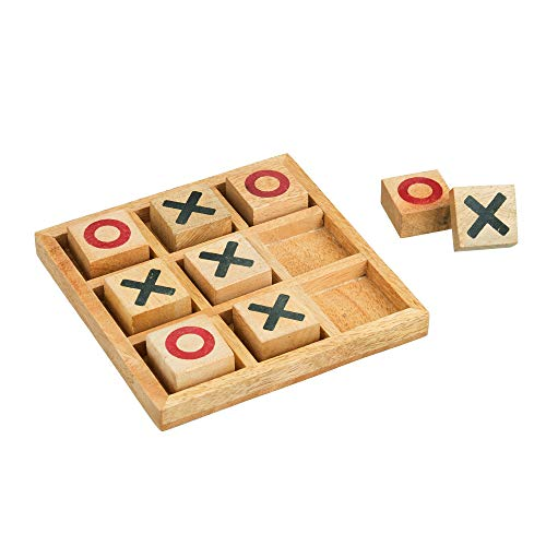 Tic Tac Toe Game for Kids & Adults | X & O Blocks | Tabletop Wooden Board Game | Handmade Classic...