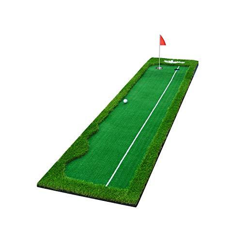 DO-MF Colchoneta de Golf para Interior Golf Green, Golf Putting Green Colchoneta para Putt 0.5 * 3M, Interior al Aire Libre Profesional de césped Artificial Estera de práctica Entrenamiento