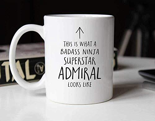 N\A Taza de café de cerámica Taza de té Esto es una Taza de té de café Almirante Estrella Ninja rudo