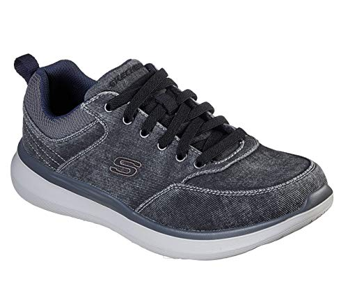 Skechers Men's Delson 2.0 - Kemper Sneaker Oxford, Black, 11.5