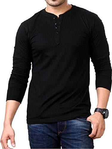 LAZYCHUNKS Men's Regular Fit T-Shirt (LMCFSTBk-S_Black_Small)