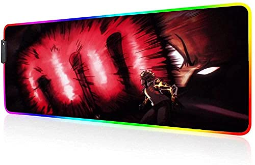 Almohadillas de ratón RGB Gaming Mouse Pad Anime retroiluminación LED antideslizante base de goma ordenador portátil teclado escritorio Mat(XY238
