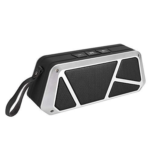 Lazmin112 Altavoz Bluetooth inalámbrico, Reproductor de música portátil para teléfono móvil, Compatible con Llamadas Manos Libres, Tarjeta de Memoria, Entrada de Audio Externa de 3,5 mm