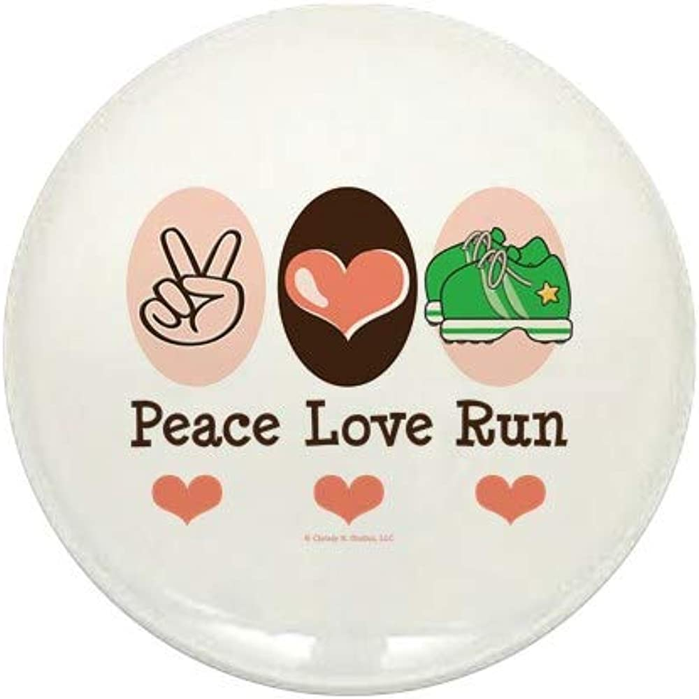 CafePress NEW before selling ☆ Peace Love online shopping Run Runner Button Mini Round 1