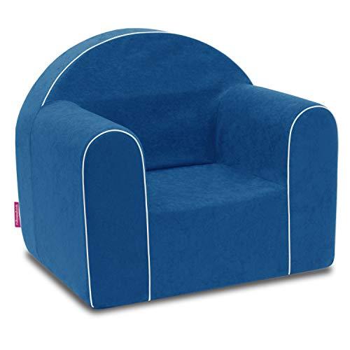 Mini sillón infantil para bebé, sillón, sofá, silla infantil, silla de espuma, respetuoso con el medio ambiente (azul) ✅