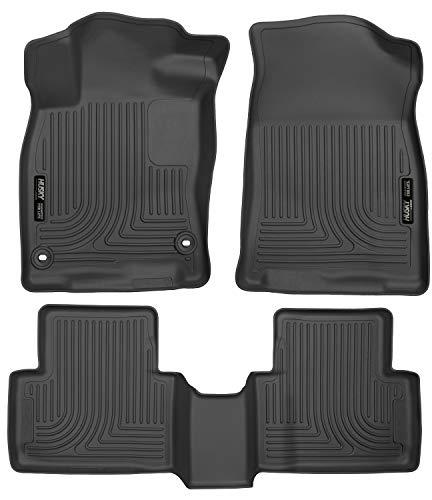 Husky Liners Fits 2016-19 Honda Civic Coupe/Sedan, 2016-18 Honda Civic Hatchback Weatherbeater Front & 2nd Seat Floor Mats