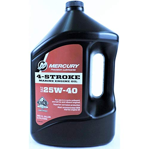 MERCURY Genuine 1 Gallon 4-Cycle Oil,...