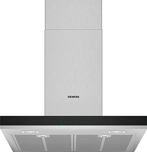Siemens LC67BHM50 iQ300 Dunstabzugshaube/Wandhaube / 60 cm / LED-Beleuchtung / touchControl / Metall-Fettfilter / Edelstahl