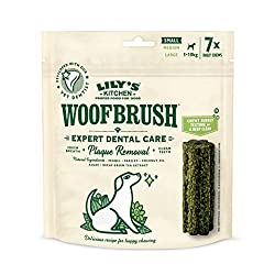 A daily dog dental stick that will reduce tartar build up, cleans teeth and freshens your dog's breath Dog dental chew (1 pack of 7 chews) designed specifically for small dogs Made with natural ingredients: 2.2 Percent algae, 0.3 Percent fennel and 0...
