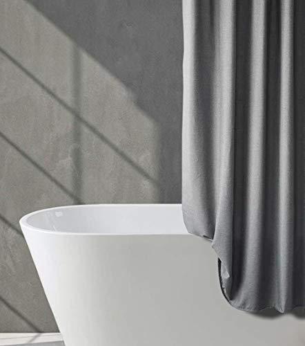 Tenda da doccia in finto lino in tessuto impermeabile e antimuffa , Fibra di poliestere spessa, 180 x 200 cm, per bagno, lavabile