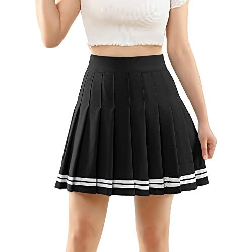 MUADRESS 9005 Falda Mujer de Patinadora a Cuadros para Fiesta Escolar Vacaciones Minifalda Klit...