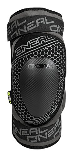 O'NEAL | Knieprotektor | Motocross Enduro MTB BMX | Flexibler Reißverschluss, IPX®-Protektorfür starken Schutz, Atmungsaktives Material | Sinner Race Kevlar Knee Guard | Erwachsene | Grau | Größe M